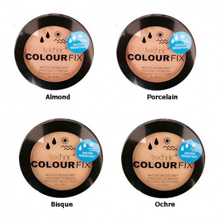 Technic Colour Fix Water Resistance Pressed Powder  Bisque